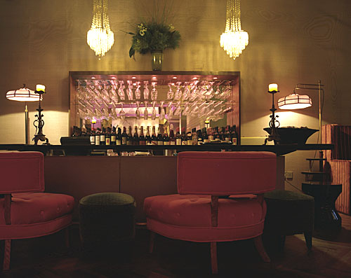 Cool bars of the world5 studio annetta this is my favorite image love those pink haines looking lounge chairs and deco detailing of the lights aloadofball Images